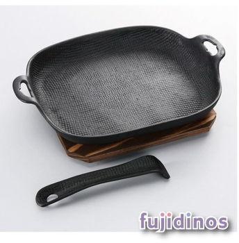 【及源鑄造】鑄鐵平底燒烤盤 炒菜盤(大型加深)
