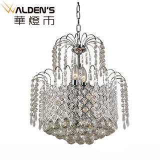 【華燈市】極光奢華水晶8燈吊燈(優雅水母造型)
