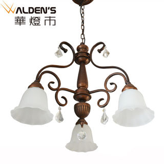 【華燈市】鄉村田園水晶3燈吊燈(歐式典雅風)