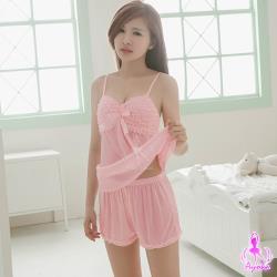 Ayoka粉嫩緞帶二件式睡衣