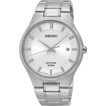 SEIKO 藍寶石水晶時尚腕錶-銀  7N42-0GB0S(SGEH27P1)