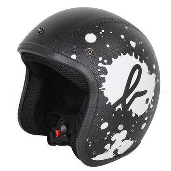 agnes b.-SPORT b. logo皮質潑漆安全帽(黑)