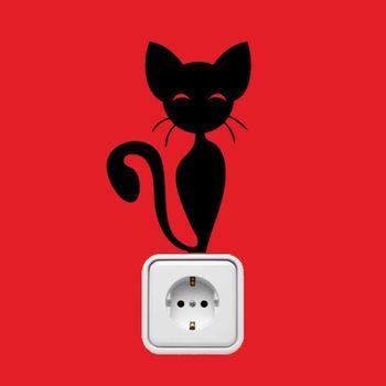 摩達客-法國Ambiance 黑貓 家飾設計壁貼