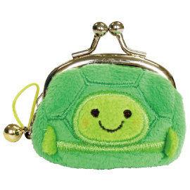 UNIQUE 動物樂園迷你珠扣零錢包  小烏龜