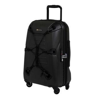 Crown皇冠/SUNCO 28吋OUTZONE叢林王者機能拉鍊硬殼行李箱-橄欖綠