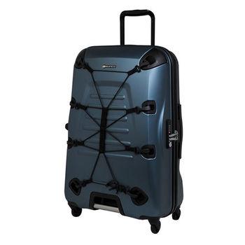 Crown皇冠/SUNCO 28吋OUTZONE叢林王者機能拉鍊硬殼行李箱-深綠