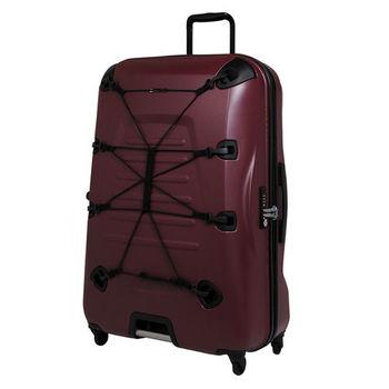Crown皇冠/SUNCO 28吋OUTZONE叢林王者機能拉鍊硬殼行李箱-酒紅
