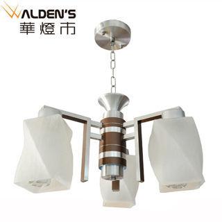 【華燈市】白樹枝紋單3燈吊燈(時尚亮銀款)