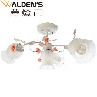 【華燈市】玫瑰森林3+1半吸頂燈(鄉野田園風)