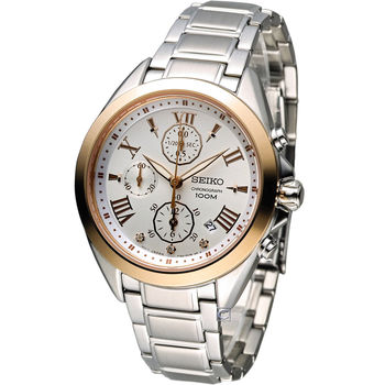 SEIKO Criteria 羅馬佳人計時腕錶 7T92-0RZ0P(SNDW22P1)