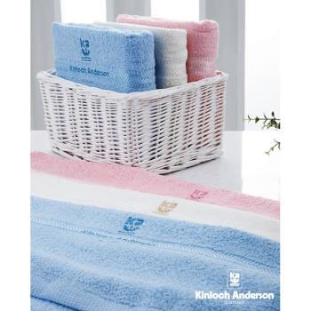 【金安德森】素色亮光紗繡花浴巾組(3色3入,每色各1入)  20支純棉雙股紗