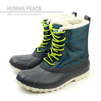 native JIMMY 防水 輕量 舒適 保暖 靴子 戶外休閒鞋 黑/綠 女款 no262