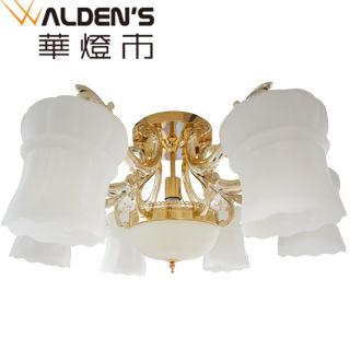 【華燈市】藝術燈籠6+1半吸頂燈(歐式宮廷風)