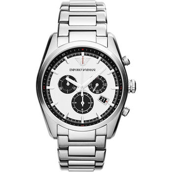 ARMANI Sportivo 專業時尚計時腕錶-銀 AR6007
