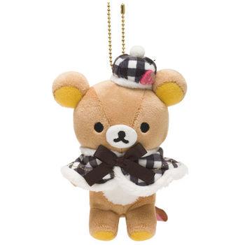San-X 拉拉熊巴黎草苺系列毛絨公仔吊飾 懶熊