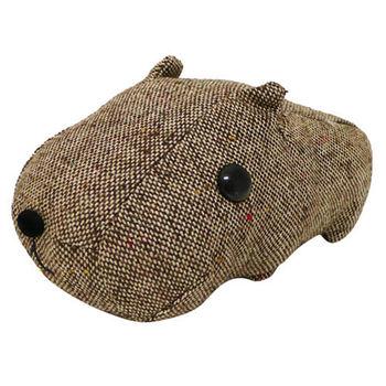 Kapibarasan 水豚君格紋系列盒裝公仔 棕色
