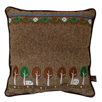 Kapibarasan 水豚君格紋系列方形抱枕 棕色
