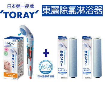 《TORAY東麗》除氯淋浴器+2入濾心RS51+RSC.51