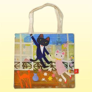 【義大利Fancy Belle X Malis】夏卡爾愛戀 麻織購物袋