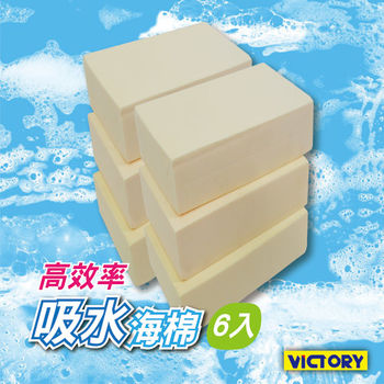 【VICTORY】高效率吸水海綿(小-6入組)