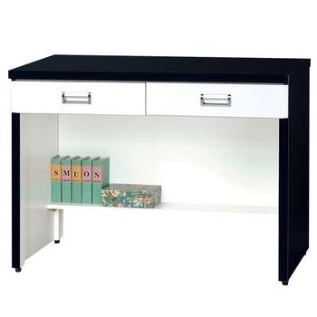 【時尚屋】[G15]黑白配3尺二抽書桌218-5