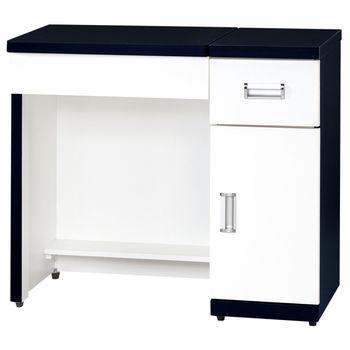 【時尚屋】[G15]黑白配2.9尺二用書桌化妝桌218-4