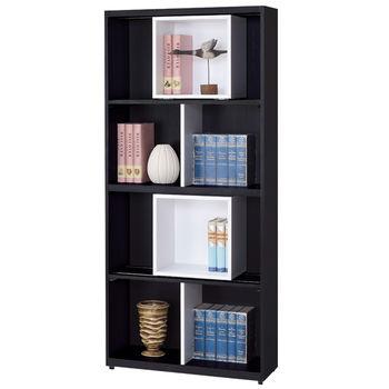 【時尚屋】[G15]黑白配2.6尺開放書櫃217-2