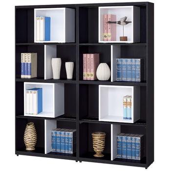【時尚屋】[G15]黑白配5.3尺開放書櫃217-1