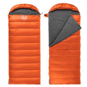 PUSH! 登山戶外用品 極致專業型 四季羽絨紡絲棉睡袋 一入