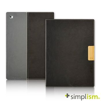 Simplism iPad Air2 記事本型側開掀蓋保護殼-皮革