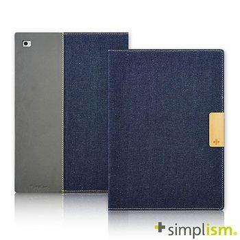 Simplism iPad Air2 記事本型側開掀蓋保護殼-丹寧牛仔