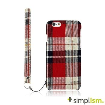 Simplism iPhone 6 Plus 布面保護殼組-紅色格紋