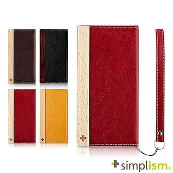 Simplism iPhone 6 Plus 側開掀蓋式皮革保護套