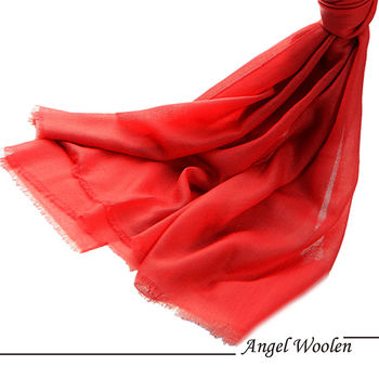 【Angel Woolen】待嫁新娘 鑽石紋羊絨披肩