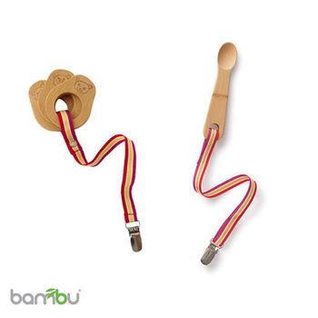 【Bambu】寶寶固齒器及訓練湯匙組(連夾鍊)