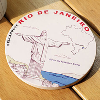 神奇陶瓷吸水杯墊 (里約 耶穌像)