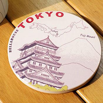 神奇陶瓷吸水杯墊(日本 富士山)