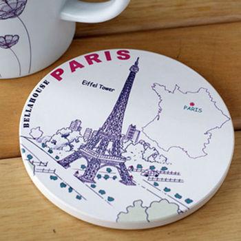 神奇陶瓷吸水杯墊(巴黎鐵塔)