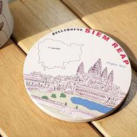 神奇陶瓷吸水杯墊 ^#40 柬埔寨 吳哥窟 ^#41
