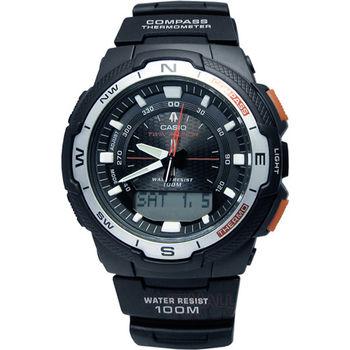 CASIO 戶外休閒‧雙感應實用機能運動腕錶〈SGW-500H-1B〉