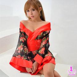 Ayoka暗夜玫瑰三件式和服角色扮演服