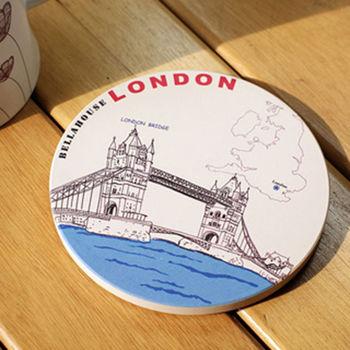 神奇陶瓷吸水杯墊 (英國鐵橋)