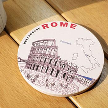神奇陶瓷吸水杯墊 (羅馬競技場)