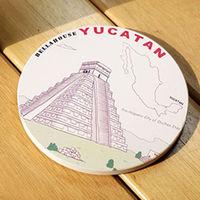 神奇陶瓷吸水杯墊 ^#40 墨西哥 馬雅文化遺址 ^#41