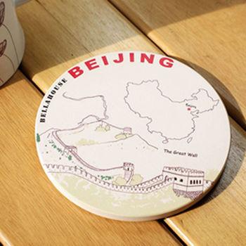神奇陶瓷吸水杯墊 (萬里長城)