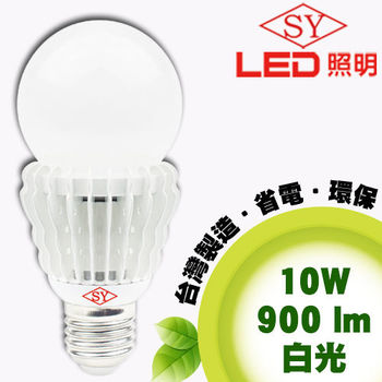 【SY 聲億照明】E27 LED 全周光燈泡 10W白光(1入)