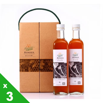 【宏基蜂蜜】歲月吟釀-五年釀造蜂蜜醋禮盒(500ml x2)x3組,共6瓶