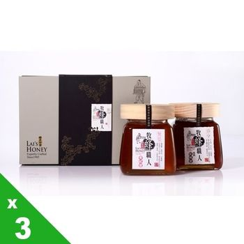 【宏基蜂蜜】悟蜂職人大瓶蜜2入禮盒(560g x2)x3組,共6瓶