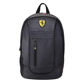 Ferrari 法拉利超跑多功能後背包TF013A(買就送Daks帕領巾)-黑色