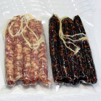 【一等鮮】港式臘腸4包+肝腸4包(300g/包 共8包)